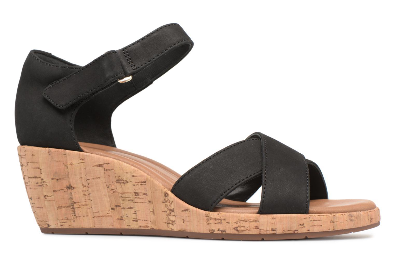 Sandales et nu-pieds Clarks Unstructured Un Plaza Cross Noir vue derrière