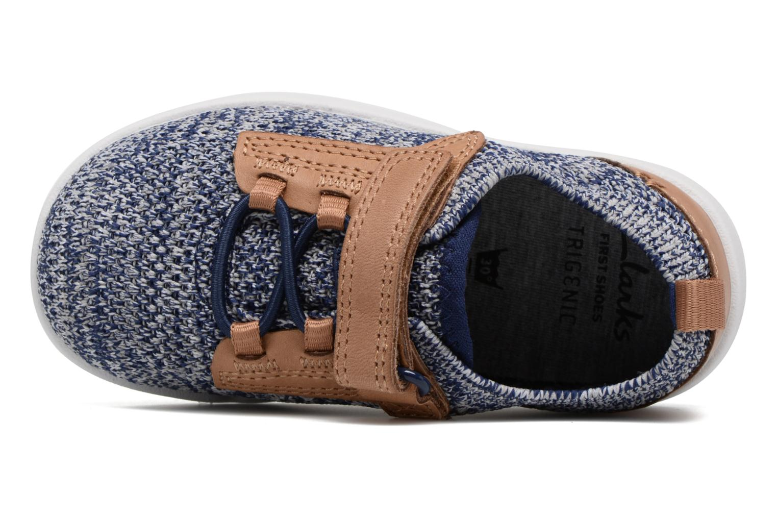 Trainers Clarks Tri Move Blue view from the left