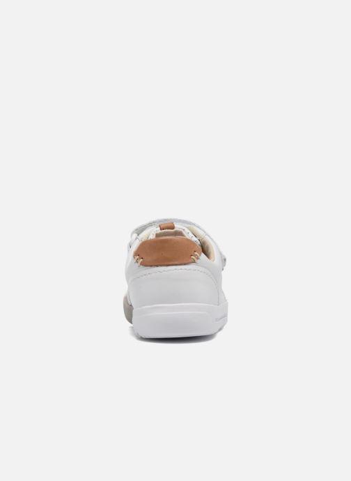 Baskets Clarks Mini Ezra Blanc vue droite