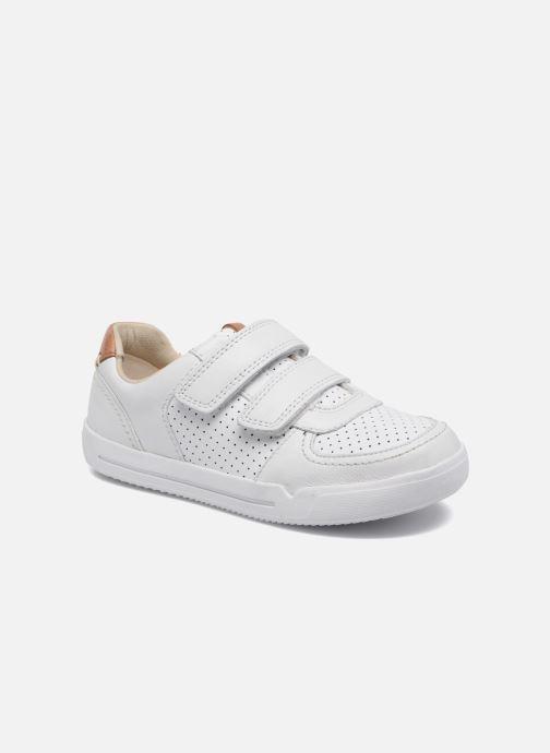 Baskets Clarks Mini Ezra Blanc vue détail/paire