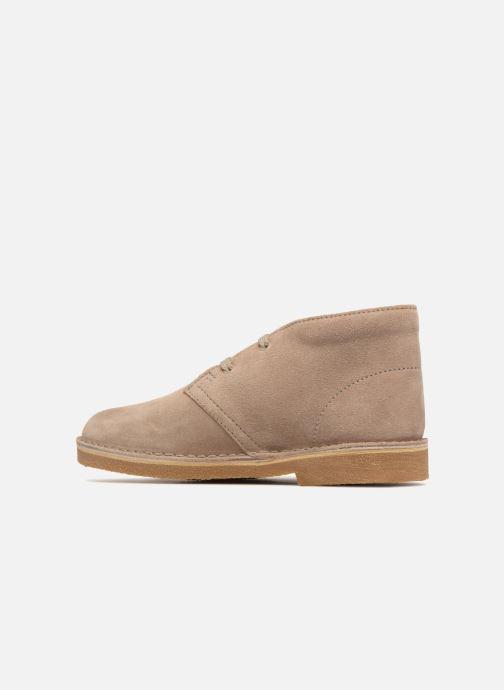 Chaussures à lacets Clarks Desert Boot K Beige vue face