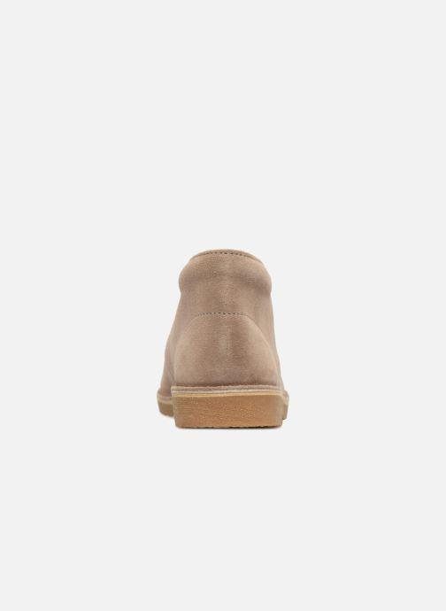 Chaussures à lacets Clarks Desert Boot K Beige vue droite