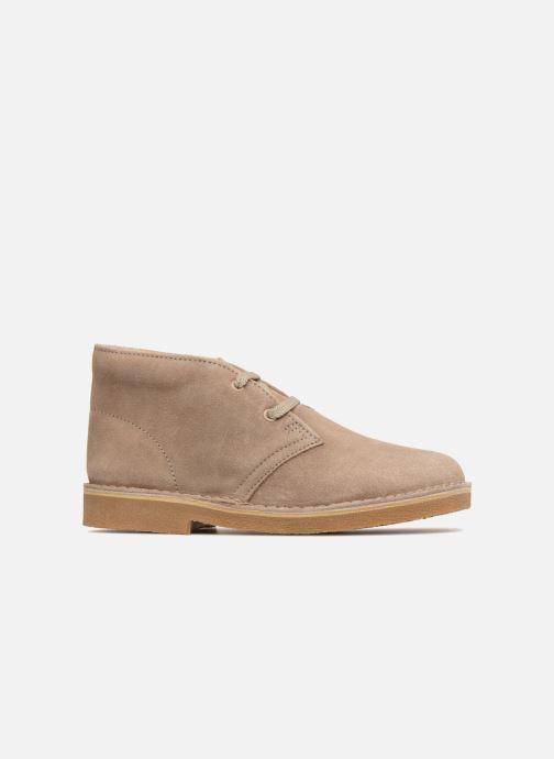 Chaussures à lacets Clarks Desert Boot K Beige vue derrière