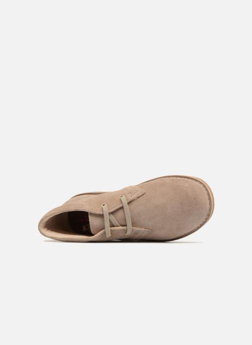 Chaussures à lacets Clarks Desert Boot K Beige vue gauche