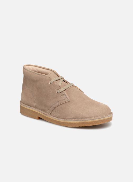 Chaussures à lacets Clarks Desert Boot K Beige vue détail/paire