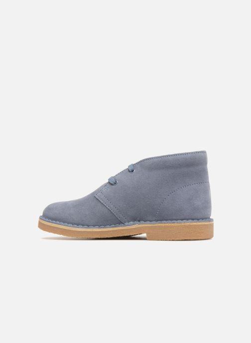 Chaussures à lacets Clarks Desert Boot K Bleu vue face