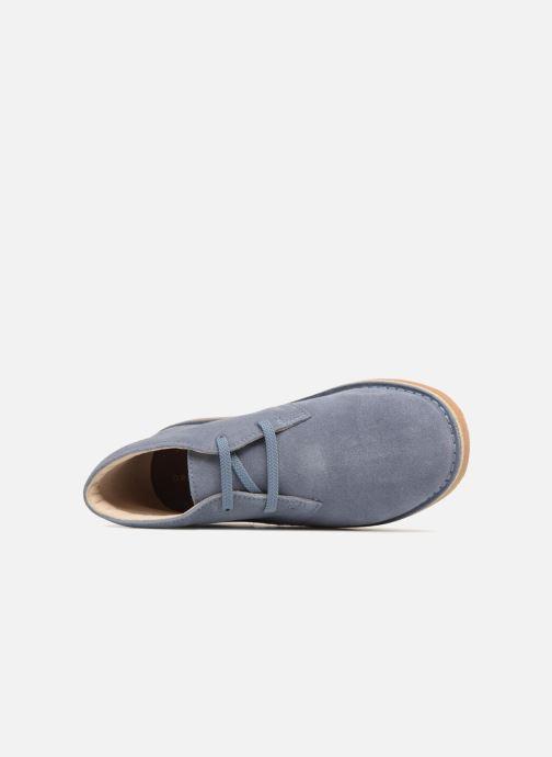 Chaussures à lacets Clarks Desert Boot K Bleu vue gauche