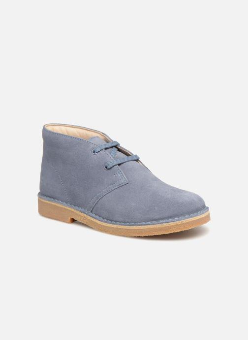 Chaussures à lacets Clarks Desert Boot K Bleu vue détail/paire