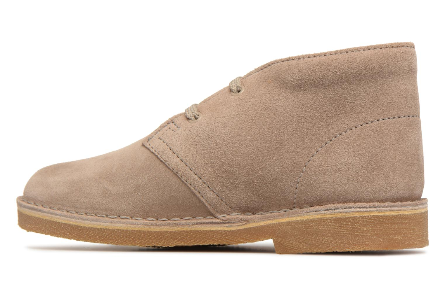 Lace-up shoes Clarks Desert Boot K Beige front view