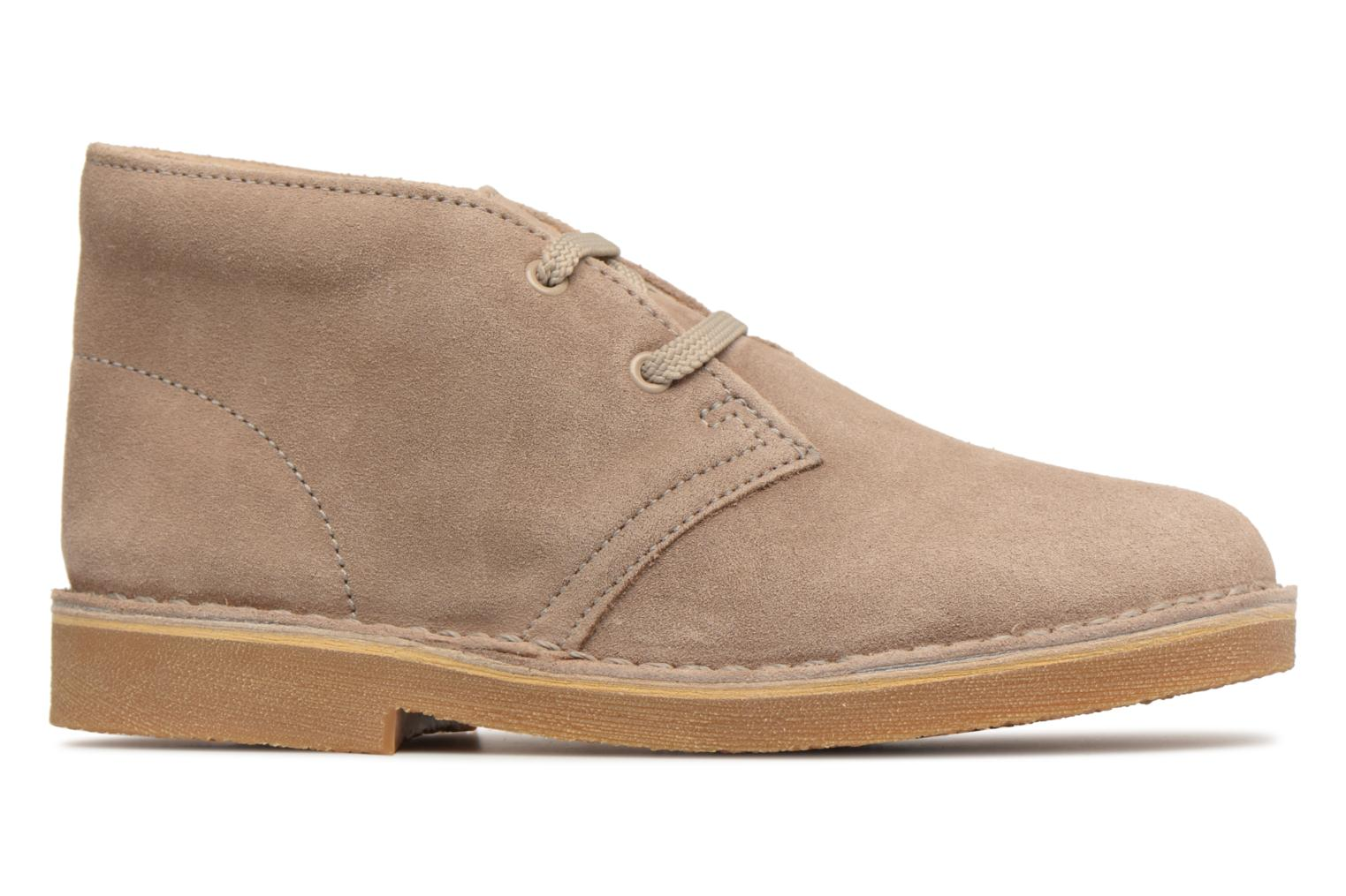 Lace-up shoes Clarks Desert Boot K Beige back view