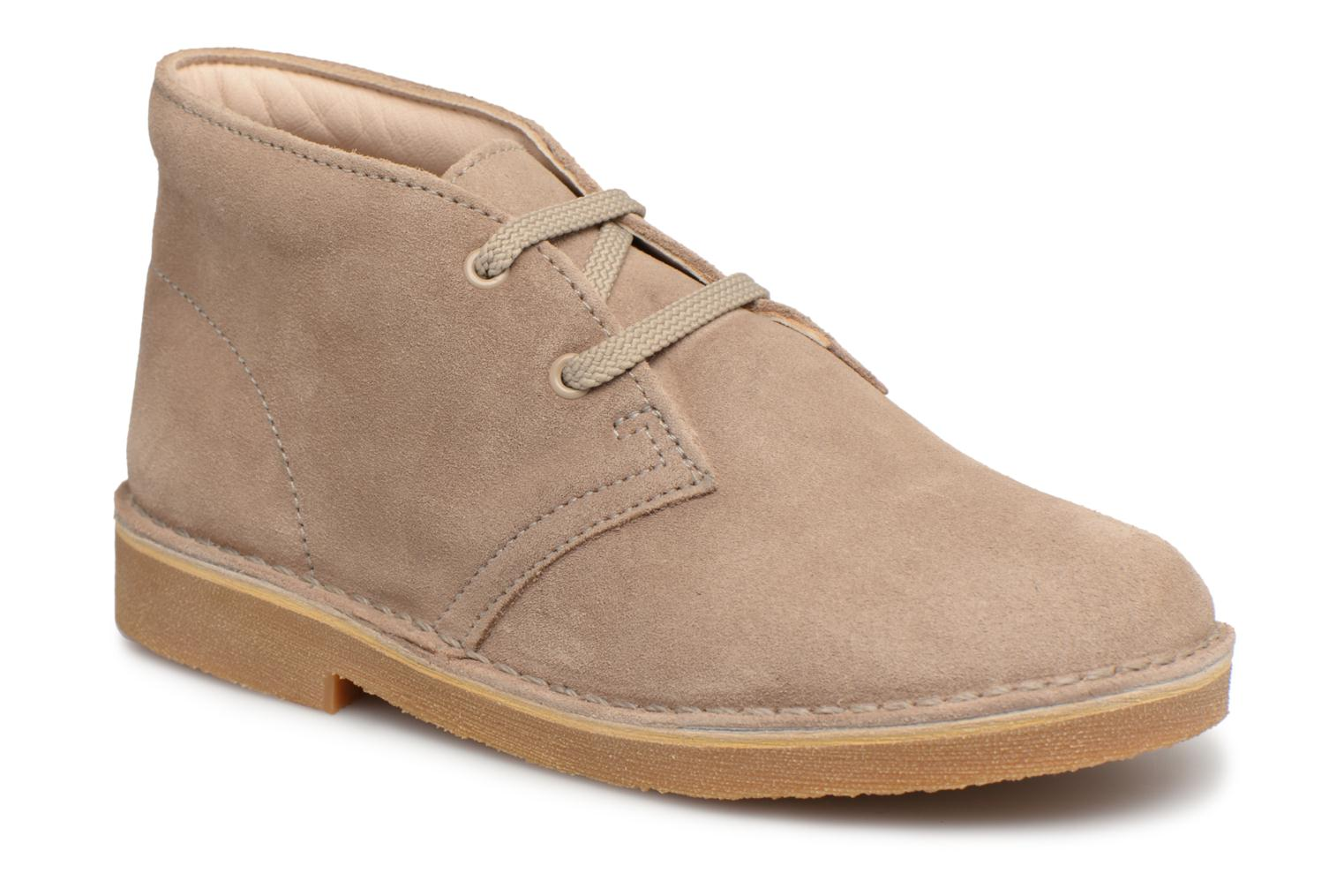 Lace-up shoes Clarks Desert Boot K Beige detailed view/ Pair view