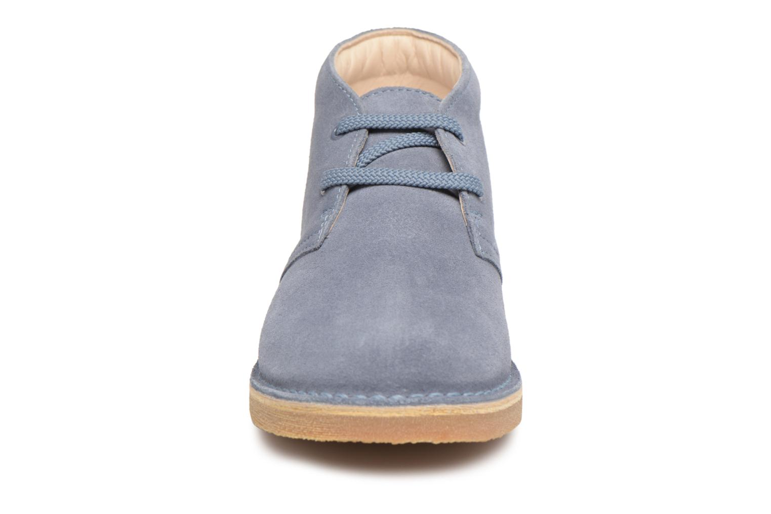Lace-up shoes Clarks Desert Boot K Blue model view