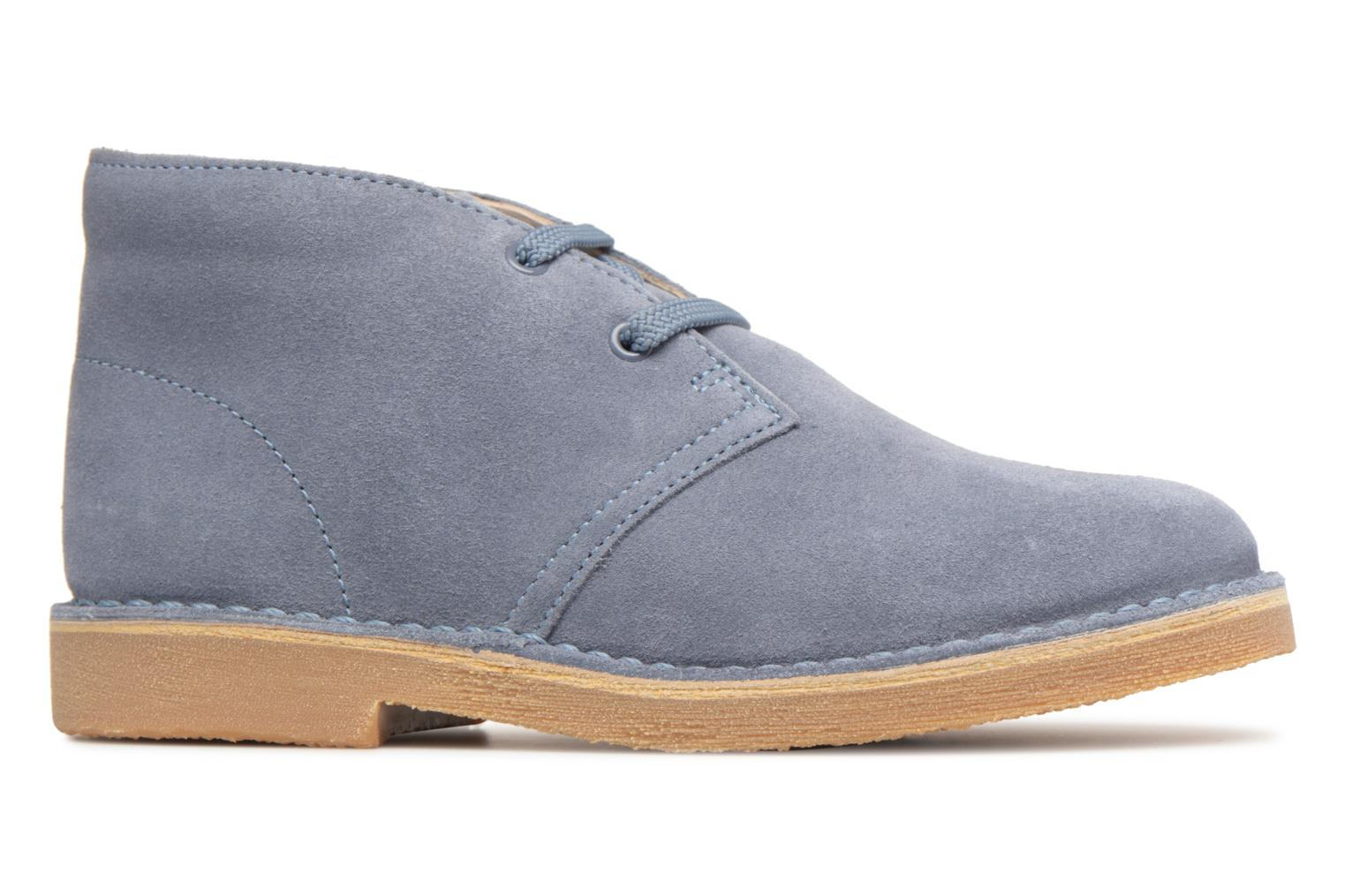 Lace-up shoes Clarks Desert Boot K Blue back view