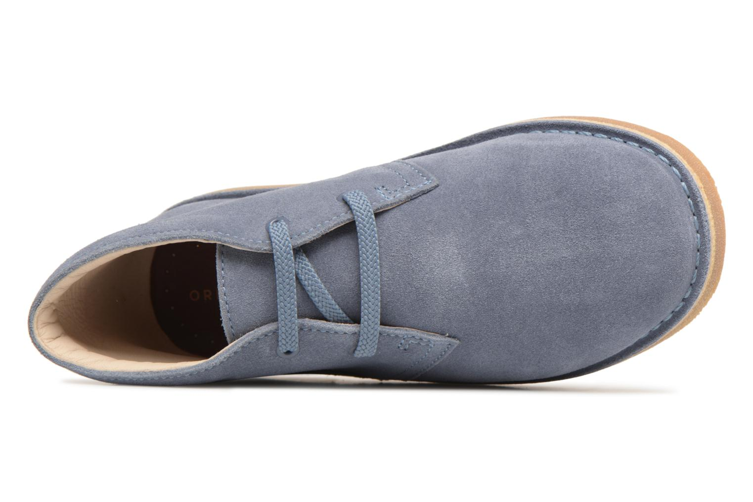 Lace-up shoes Clarks Desert Boot K Blue view from the left