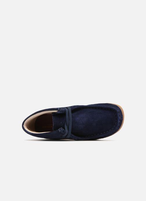 Chaussures à lacets Clarks Wallabee Bt Bleu vue gauche