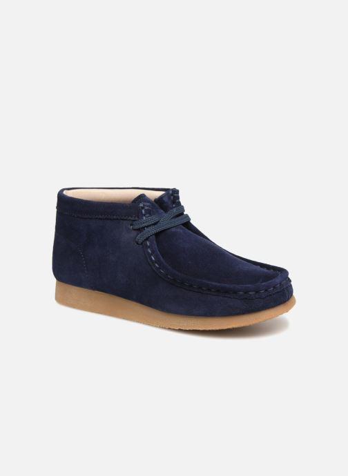 Chaussures à lacets Clarks Wallabee Bt Bleu vue détail/paire