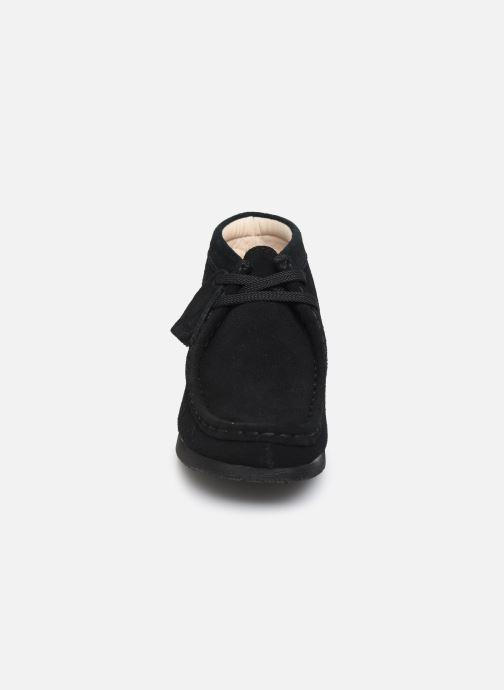 Schnürschuhe Clarks Wallabee Bt schwarz schuhe getragen