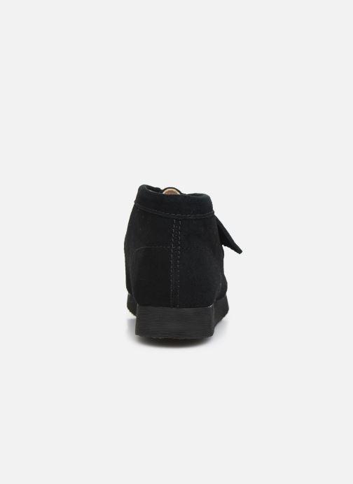 Zapatos con cordones Clarks Wallabee Bt Negro vista lateral derecha