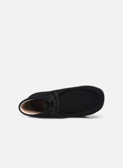 Zapatos con cordones Clarks Wallabee Bt Negro vista lateral izquierda