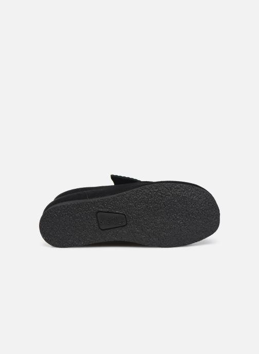 Chaussures à lacets Clarks Wallabee Bt Noir vue haut