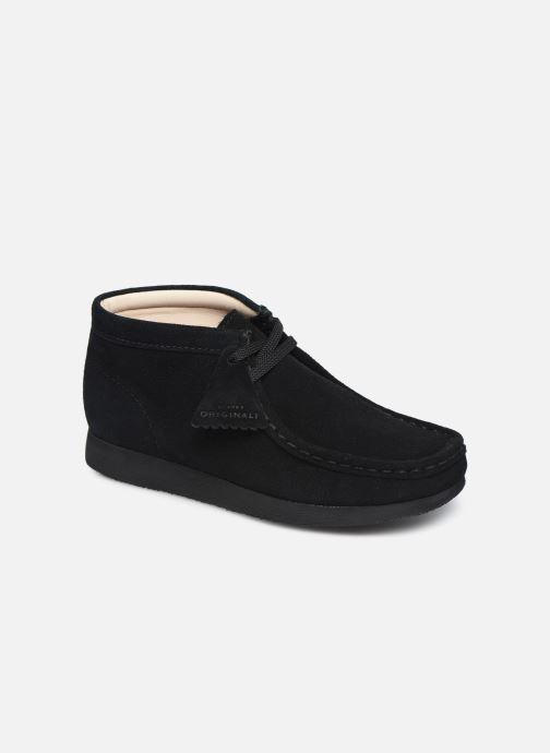 Zapatos con cordones Clarks Wallabee Bt Negro vista de detalle / par