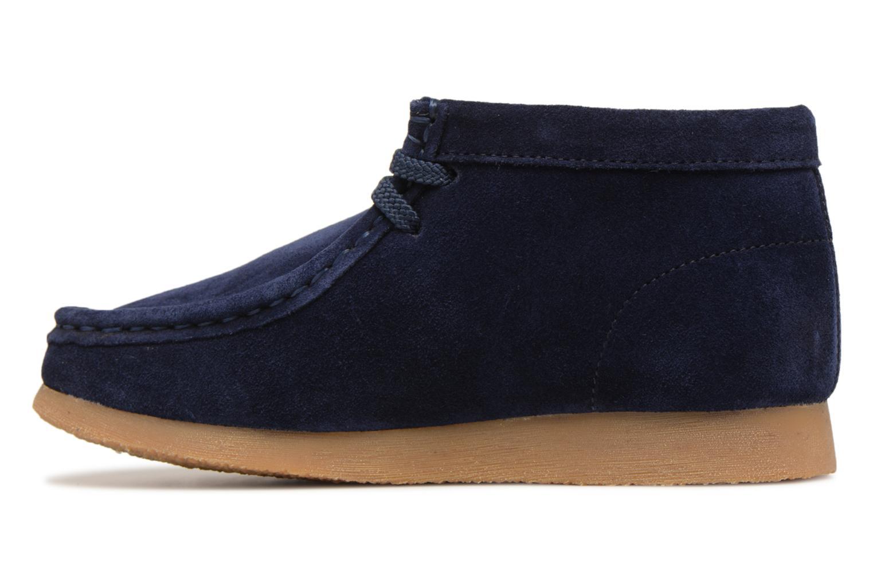 Chaussures à lacets Clarks Wallabee Bt Bleu vue face