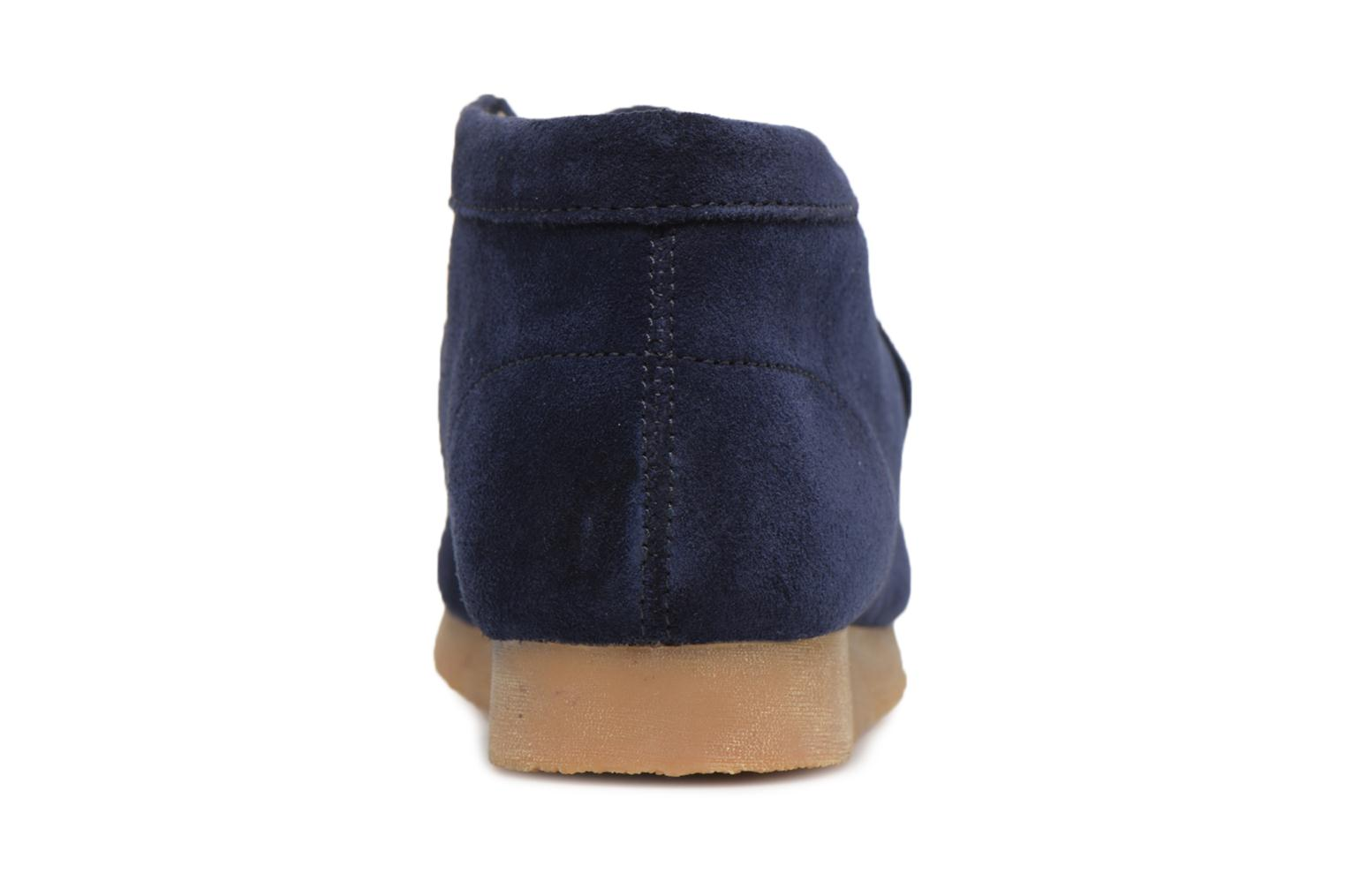 Lace-up shoes Clarks Wallabee Bt Blue view from the right