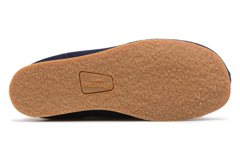 Chaussures à lacets Clarks Wallabee Bt Bleu vue haut