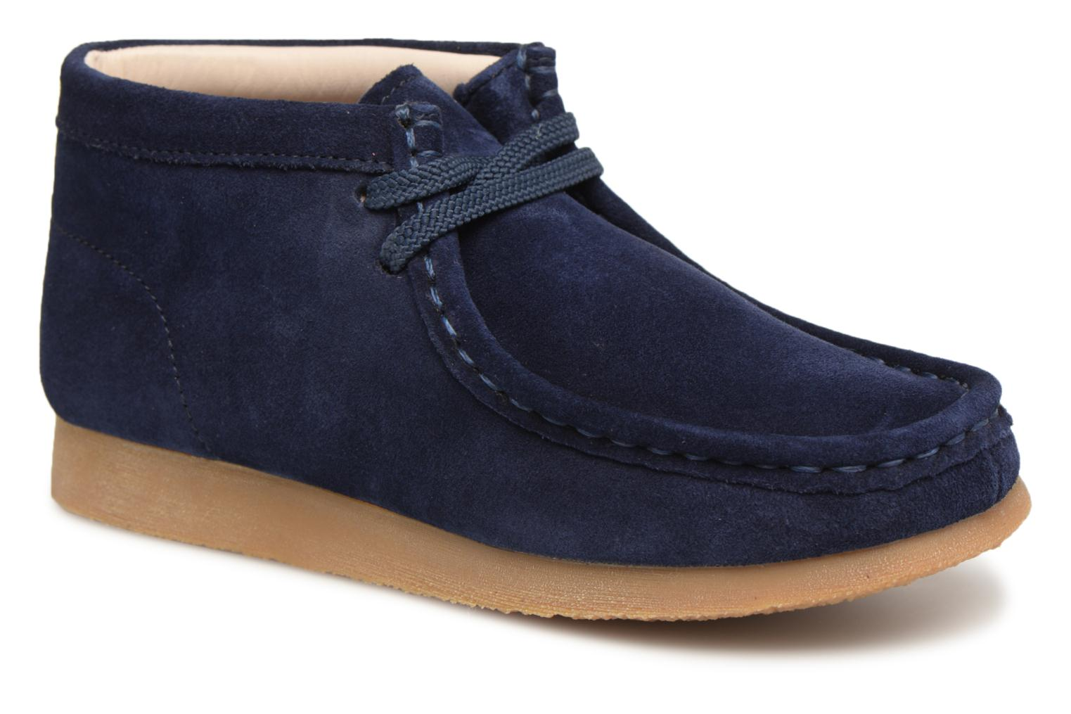 Lace-up shoes Clarks Wallabee Bt Blue detailed view/ Pair view