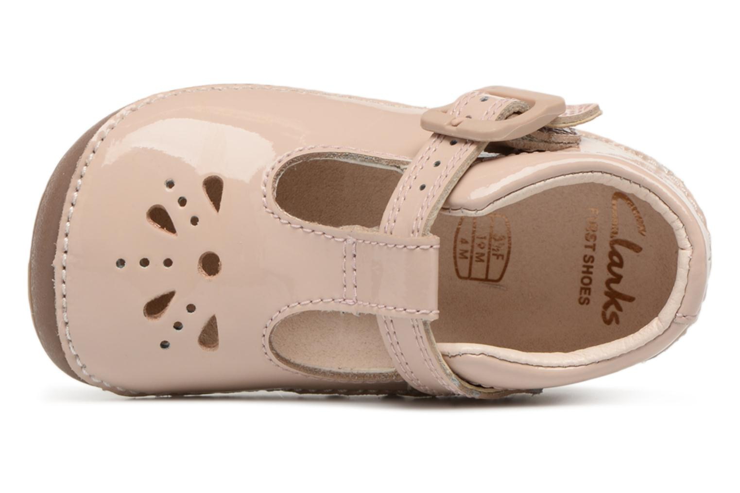 Ballet pumps Clarks Little Weave Beige view from the left
