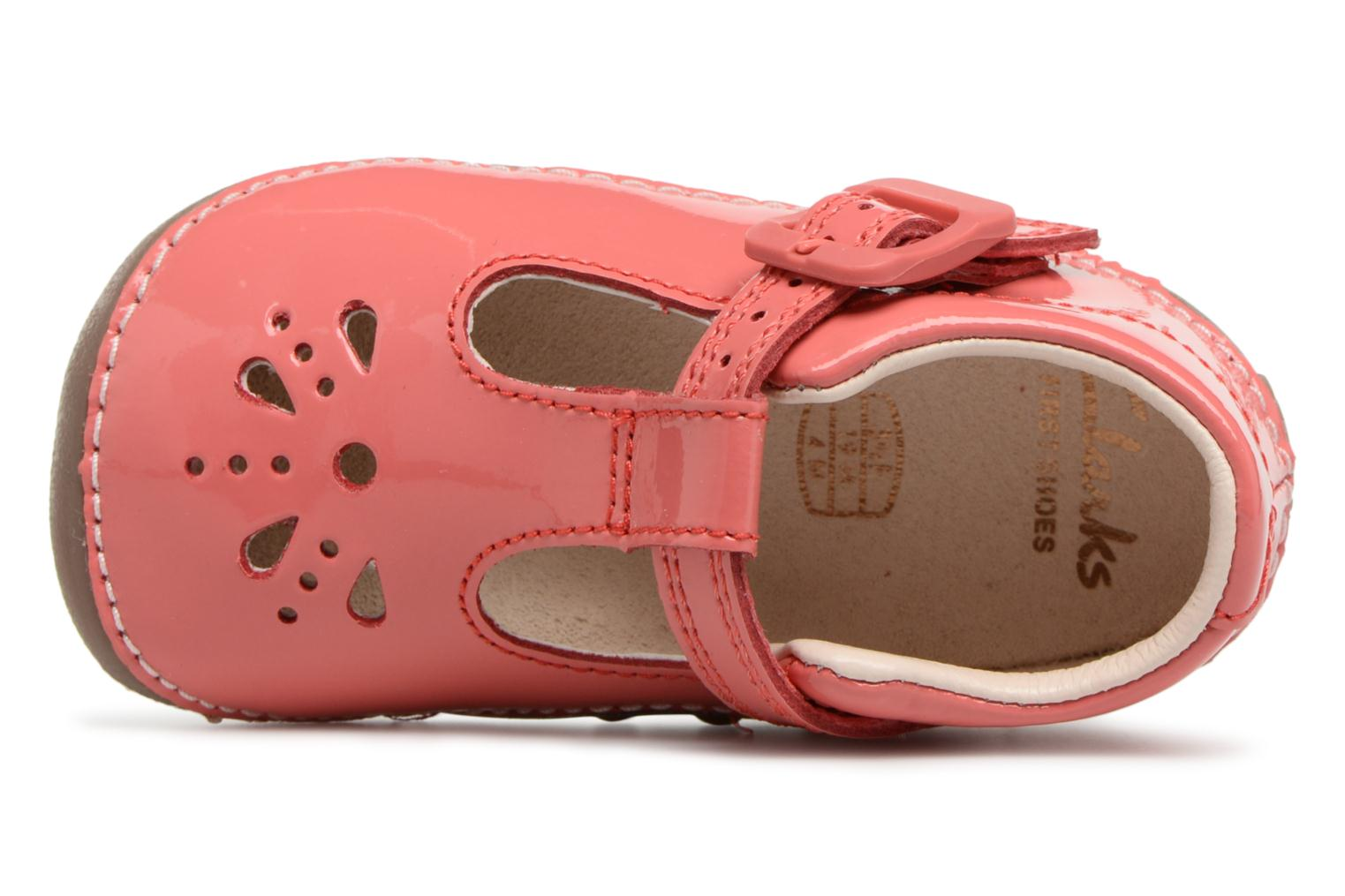 Ballet pumps Clarks Little Weave Pink view from the left