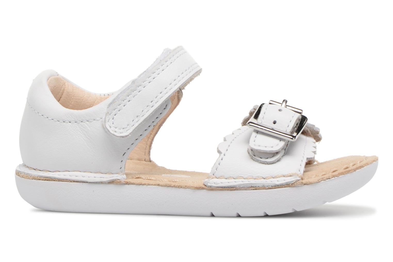 Sandals Clarks Ivy Flora White back view