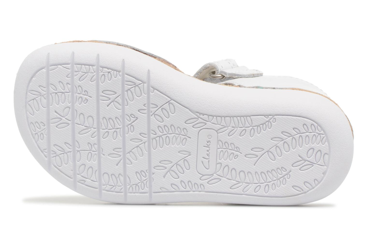 Sandals Clarks Ivy Flora White view from above