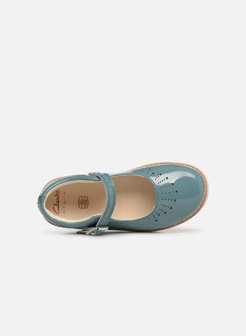 Ballet pumps Clarks Crown Jump Blue view from the left