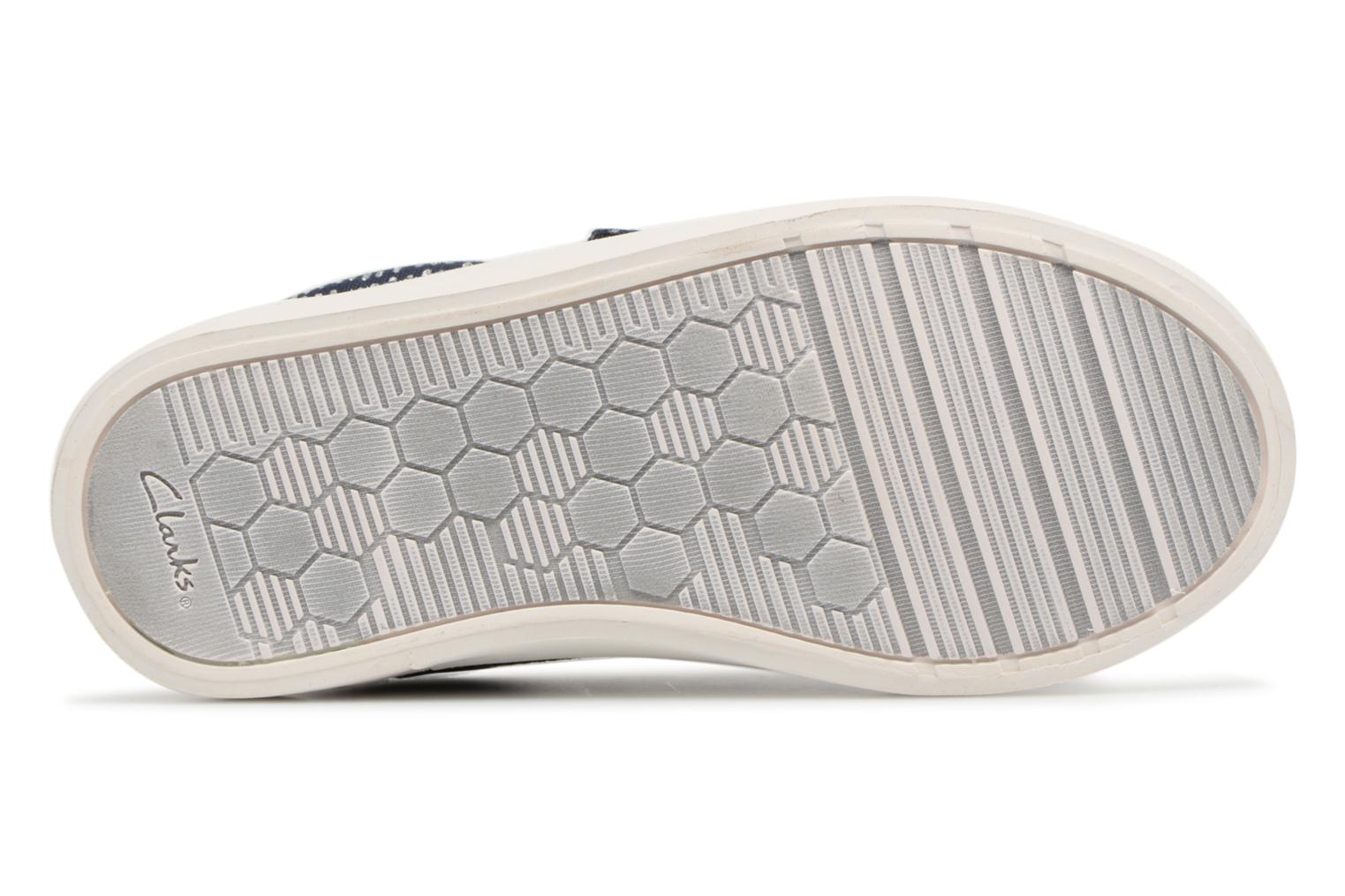 Trainers Clarks Comic Cool Blue view from above