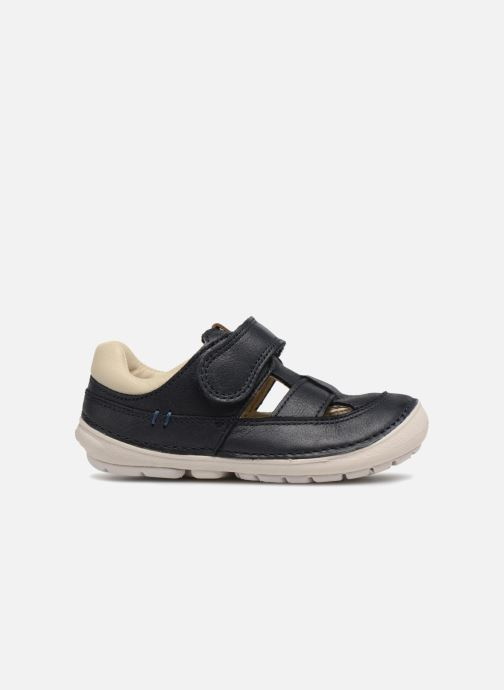 Summer boots Clarks Softly Ash Blue back view