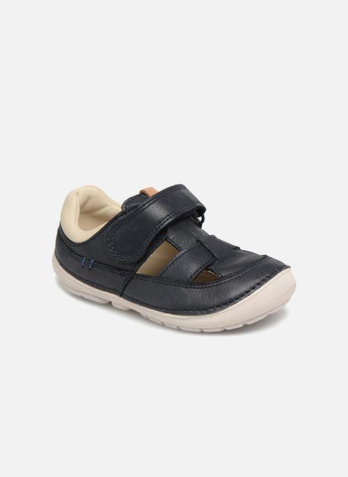 Sommersko Clarks Softly Ash Blå detaljeret billede af skoene