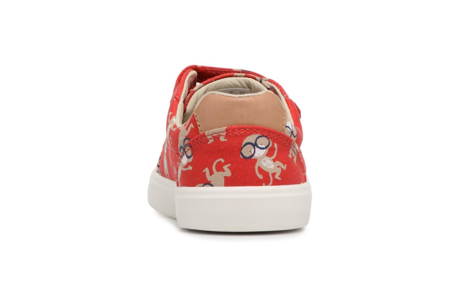 Trainers Clarks Comic Air Red view from the right