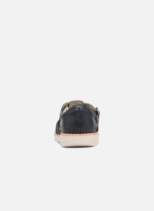 Sandales et nu-pieds Clarks Crown Stem Bleu vue droite