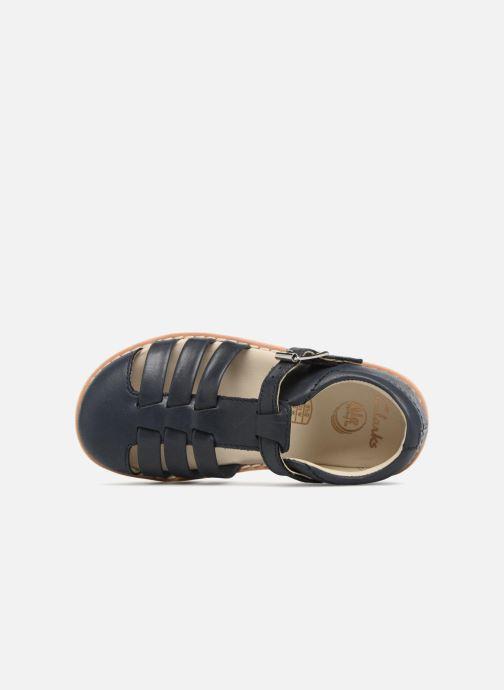 Sandales et nu-pieds Clarks Crown Stem Bleu vue gauche