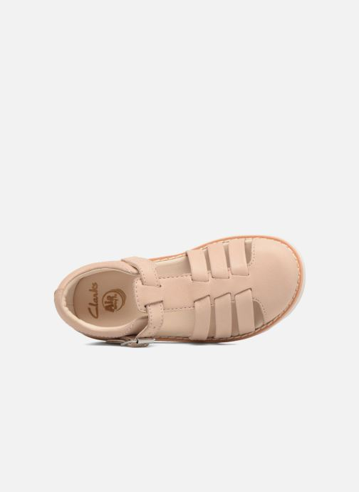 Sandals Clarks Crown Stem Beige view from the left