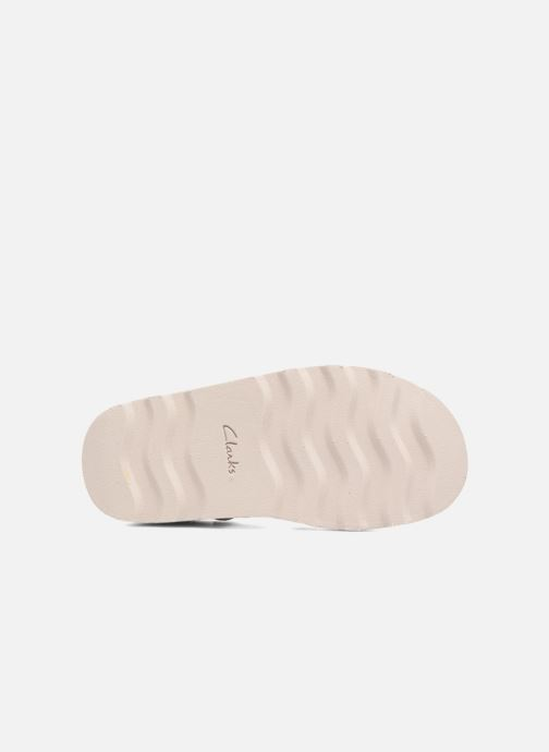 Sandals Clarks Crown Stem Beige view from above