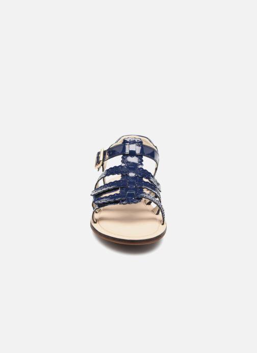 Sandales et nu-pieds Clarks Loni  Moon Bleu vue portées chaussures