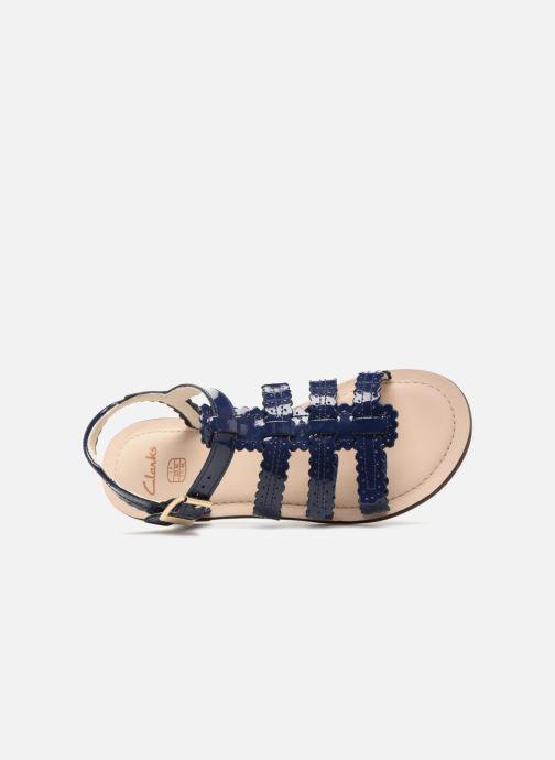 Sandales et nu-pieds Clarks Loni  Moon Bleu vue gauche