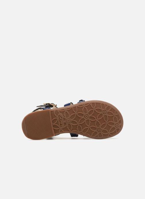Sandales et nu-pieds Clarks Loni  Moon Bleu vue haut