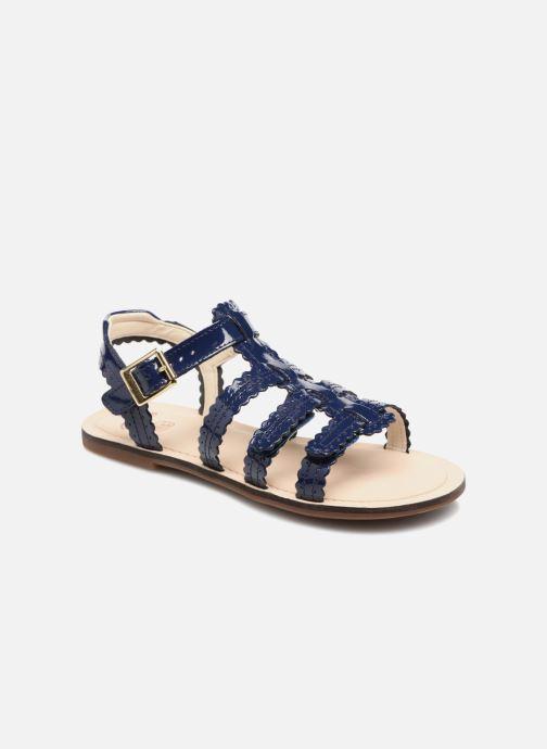 Sandales et nu-pieds Clarks Loni  Moon Bleu vue détail/paire