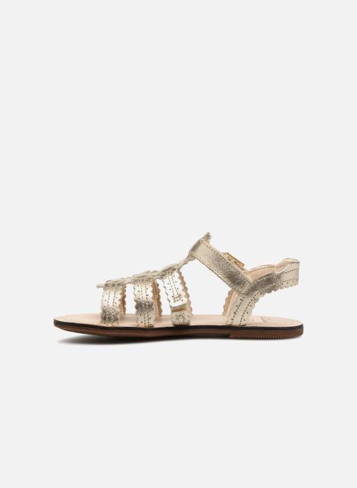 Sandales et nu-pieds Clarks Loni  Moon Or et bronze vue face