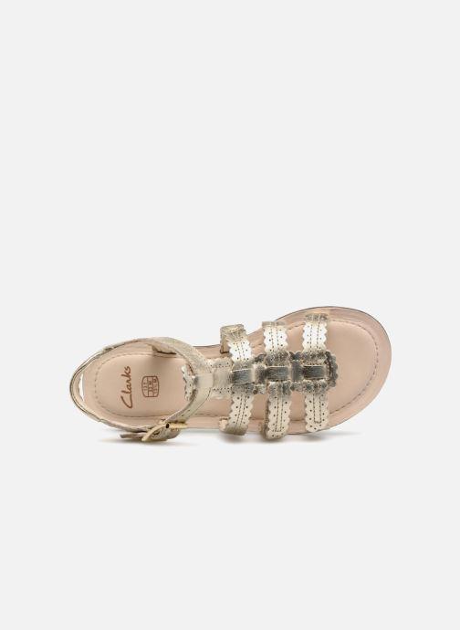 Sandales et nu-pieds Clarks Loni  Moon Or et bronze vue gauche
