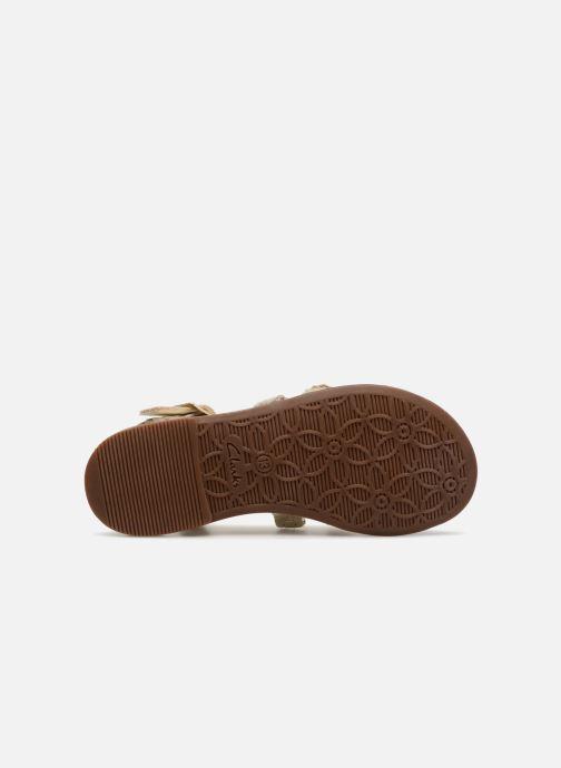 Sandales et nu-pieds Clarks Loni  Moon Or et bronze vue haut
