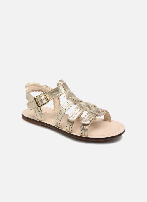 Sandales et nu-pieds Clarks Loni  Moon Or et bronze vue détail/paire